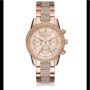 Mk ritz chronograph & date bracelet watch